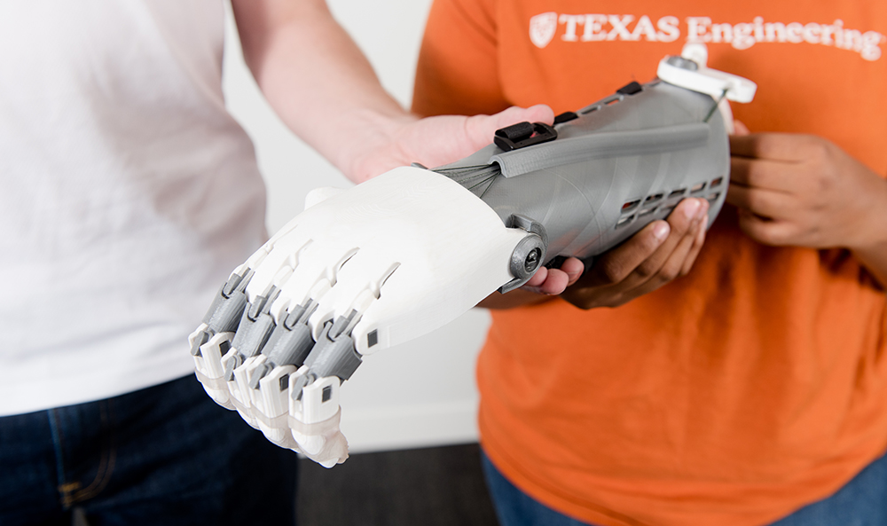 close up photo of a prosthetic arm